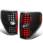 2009 Ford F150 Black LED Tail Lights