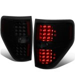 2009 Ford F150 Black Smoked LED Tail Lights