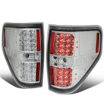 Ford F150 2009-2014 Clear LED Tail Lights