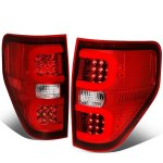 2010 Ford F150 LED Tail Lights Red C-Tube
