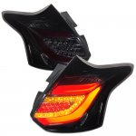Ford Focus Hatchback 2012-2014 Smoked Tube LED Tail Lights