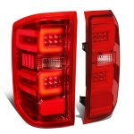 Chevy Silverado 2500HD 2015-2019 LED Tail Lights Red C-Tube