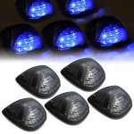 2009 Ford F550 Super Duty Tinted Blue LED Cab Lights