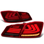 Honda Accord Sedan 2013-2015 Tinted Tube LED Tail Lights