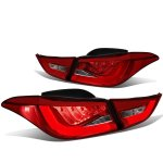 2012 Hyundai Elantra Sedan Tube LED Tail Lights