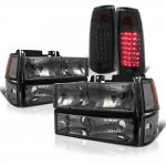 Chevy Suburban 1992-1993 Smoked Headlights and LED Tail Lights