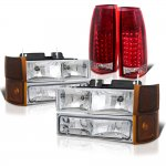 Chevy Suburban 1994-1999 Headlights Tinted Corner and LED Tail Lights