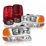 GMC Yukon XL 2000-2006 Tube DRL Headlights LED Tail Lights