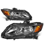 Honda Civic 2012-2015 Black Headlights