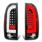 Toyota Tacoma 2005-2015 Black LED Tail Lights Clear Tube