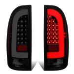 Toyota Tacoma 2005-2015 Black Smoked Tube LED Tail Lights