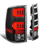 GMC Sierra 2007-2013 Black Tube LED Tail Lights