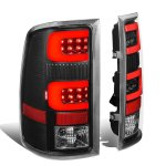 GMC Sierra 2007-2013 Black LED Tail Lights Red Tube