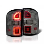 GMC Sierra 1500 2014-2018 Smoked LED Tail Lights