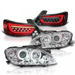 Honda S2000 2000-2003 Halo Projector Headlights Black Tube LED Tail Lights