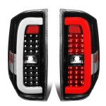 2014 Toyota Tundra Black C-Tube LED Tail Lights