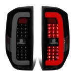 2014 Toyota Tundra Black Smoked C-Tube LED Tail Lights