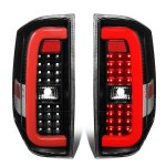 2014 Toyota Tundra Black Red C-Tube LED Tail Lights
