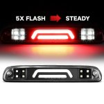 Ford F250 Super Duty 1999-2007 Black Tube Flash LED Third Brake Light