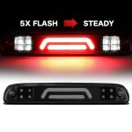 2013 Ford F450 Super Duty Black Smoked Tube Flash LED Third Brake Light