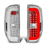 2014 Toyota Tundra Clear C-Tube LED Tail Lights
