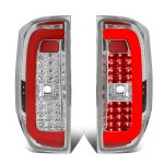 2014 Toyota Tundra Clear Red C-Tube LED Tail Lights