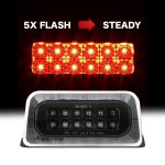 Chevy S10 Regular Cab 1994-2003 Black Flash LED Third Brake Light