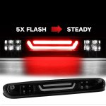 2007 GMC Sierra Black Smoked Tube Flash LED Third Brake Light