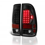 2003 Ford F450 Super Duty Black LED Tail Lights