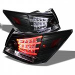 Honda Accord Sedan 2008-2012 Black LED Tail Lights