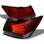 Honda Accord Sedan 2008-2012 Red and Smoked LED Tail Lights