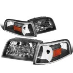 Mercury Grand Marquis 2006-2011 Black Headlights