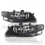 Acura TSX 2004-2005 Black Projector Headlights
