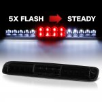 2001 GMC Sierra 3500 Black Smoked Flash LED Third Brake Light