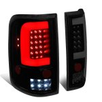2005 Ford F150 Black Smoked C-Tube LED Tail Lights