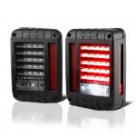 2014 Jeep Wrangler JK Black LED Tail Lights