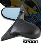 2000 Honda Civic Coupe Carbon Fiber Cover Spoon Style Blue Len Manual Side Mirror