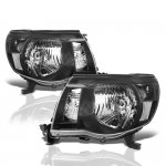 Toyota Tacoma 2005-2011 Black Euro Headlights