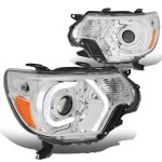 Toyota Tacoma 2012-2015 LED Tube DRL Projector Headlights