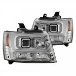 2009 Chevy Avalanche LED Tube DRL Projector Headlights