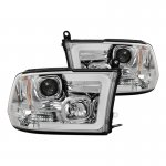 2012 Dodge Ram LED Tube DRL Projector Headlights