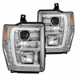 Ford F350 Super Duty 2008-2010 Tube DRL Projector Headlights