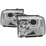 Ford F550 Super Duty 2005-2007 Tube DRL Projector Headlights