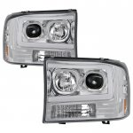 2000 Ford F250 Super Duty Tube DRL Projector Headlights