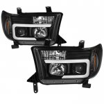2008 Toyota Tundra Black Tube DRL Projector Headlights
