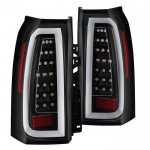 Chevy Suburban 2015-2018 Black Tube Full LED Tail Lights