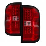 Chevy Silverado 2500HD 2015-2018 Red Clear LED Tail Lights