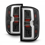 2015 Chevy Silverado 2500HD Black Tube Full LED Tail Lights