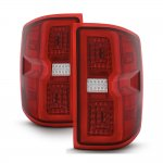 2015 Chevy Silverado 2500HD Tube Full LED Tail Lights
