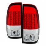 2001 Ford F150 Red Clear LED Tail Lights
